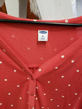 Old Navy Red Polka Dot V-neck long Sleeve light weight shirt 2XL