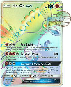 Pokemon Ho-Oh GX SM80 Soleil Lune Secret Rare Carte Promo 190 PV Jumbo Francais