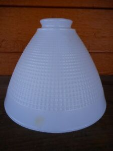 industrial Vintage White Glass Light Lamp Shade Globe Farmhouse Country