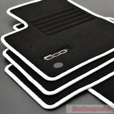 MP Velours Edition Fußmatten für Fiat 500 + 500 C Cabrio ab Bj. 2013 weiss