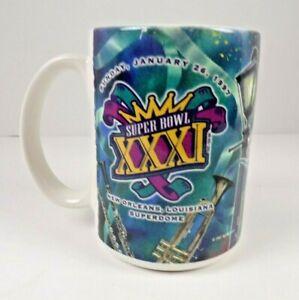 Vtg 1997 Green Bay Packers Superbowl XXXI Champions Ceramic Mug Coffee Cup 14 oz