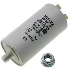 AnlaufKondensator MotorKondensator 12µF 450V 35x65mm Stecker M8 ; Miflex ; 12uF