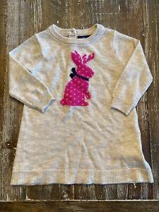 Baby Gap 3-6 Months (3-6M) Long Sleeve Bunny Dress