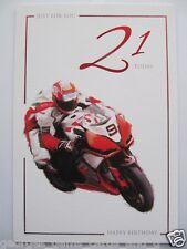SUPER RACING BIKE MOTOGP JUST FOR YOU 21 oggi ventunesimo compleanno auguri carta