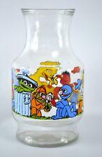 Muppets Inc Sesame Street Large Glass Carafe Pitcher Vintage USA Anchor Hocking