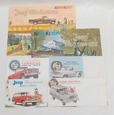 6 1962 1963 Kaiser JEEP Brochures Gladiator Pickup Truck Wagoneer Panel Delivery