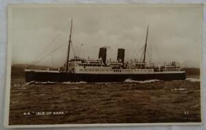 Vintage Shipping Postcard Southern Railway SS Isle of Sark Real Photograph Ship