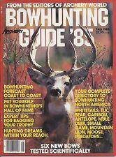 ARCHERY WORLD BOWHUNTING GUIDE 1985 WHITETAIL ELK CARIBOU ANTELOPE MOOSE BEAR
