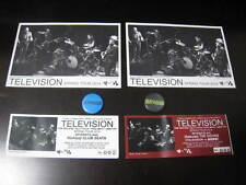 Television 2014 Japan Tour Ticket Stub with Badge Postcard Tom Verlaine Ny Punk