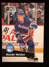 RANDY MOLLER 1991 1992 PRO SET Autographed Signed HOCKEY Card JSA 163 RANGERS