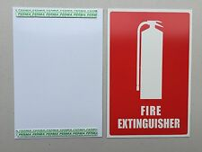 Fire Extinguisher Location Sign with Mounting Tape