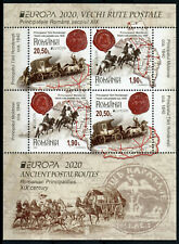 More details for romania postal services stamps 2020 mnh ancient postal routes europa 4v m/s a