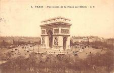 PARIGI - panorama del luogo della'Stella