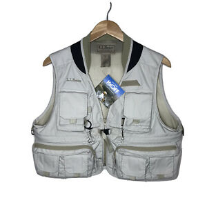 NWT LL Bean H2OFF Water Repellent Fishing Photography Utility Vest Womens M