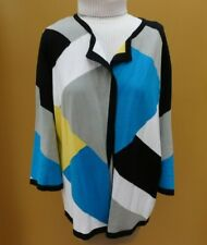 Evan-Picone Cardigan Color block Size XL
