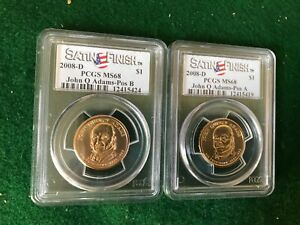 2008 D John Q Adams Presidential Dollars , Satin Finish -T