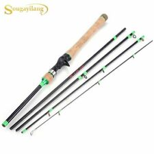 Telescopic Carbon FIber Fishing Rod Portable 5 Section Travel Lure Hand Pole