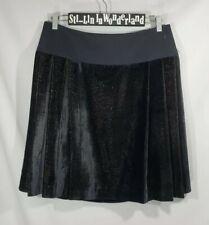 NWT ETRO Box Pleated Skirt Velvet Metallic Sz IT46 US 10 Black Gold MSRP $870