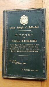 HUDDERSFIELD Report on special Committee March 1884 - Finances - Yorkshire Local