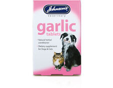 Johnsons Garlic Tablets For Dogs & Cats A Natural Herb Remedy For Fleas & Worms.