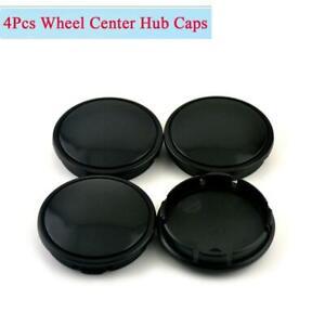 4Pcs 58mm 53mm Car Wheel Hub Center Caps Decoration Cover High Quality Black ABS