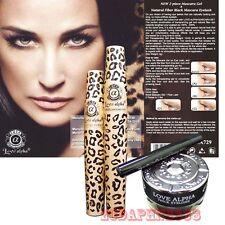 3D Fiber Lashes & Eyeliner Gel - Love Alpha Leopard Pattern Mascara & Eyeliner