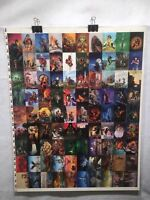 Everway Vision Fantasy Art Trading Cards UNCUT 90 CARD SHEET Poster Size FPG