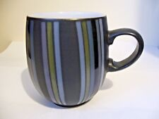 DENBY - JET STRIPES - LARGE CURVE MUG - SECOND QUALITY - VERY GOOD USED*n