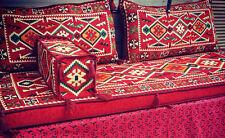 Turkish Oriental Corner Set Kilim Pillow Cushion Lounge Hand Woven Wool Varies