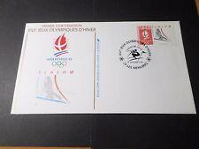 FRANCE 1991 FDC 1° jour, JEUX OLYMPIQUES ALBERTVILLE, SPORT SKI SLALOM