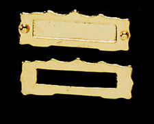 Miniature Brass Letterbox for a dolls house  : 12th scale Letterbox