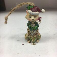 Jim Shore Heartwood Creek Christmas Cat Hanging Ornament 2008 Retired 4010629