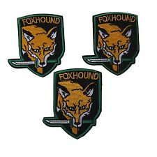 Metal Gear Solid Series Gray and Green Fox Hound Embroidered Patch Set of 3