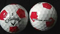 "10 CALLAWAY  ""CHROME SOFT"" - with ""RED TRUVIS"" - ""PEARL"" Grade."