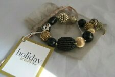 Gold & Black with Gift Bag Nwt Chicos Holiday Wishes Fashion Bracelet