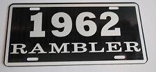 METAL LICENSE PLATE 1962 62 RAMBLER NASH AMC AMERICAN MOTORS 660 440