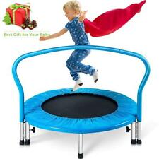 """Indoor/Outdoor 36"""" Kid's Exercise Portable Trampoline Handrail&Padded Cover"""