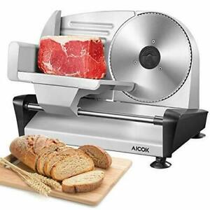 AICOK AICOOK Electric Meat Slicer 20 cm Serrated Blade15mm Adjustable Thickness