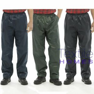 Waterproof Rain Over Trousers Overtrousers Mens / Ladies Work Camping Fishing