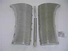 1940 Ford Deluxe Car CHROME Grille Assembly Kit '40 w Center Strip & Crank Cover