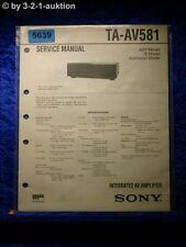 Sony Service Manual TA AV581 Amplifier (#5639)