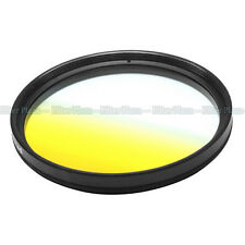 77mm 77 mm Graduated Gradual Yellow Color Special Effect Lens Filter Screw Mount
