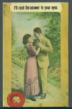 Romantic Couple READ THE ANSWER IN YOUR EYES Postcard