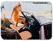 Triumph spitfire mk3 VOITURE AD souris Tapis. voiture classique tapis de souris. brochure vintage