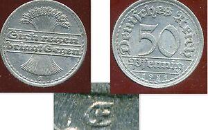 ALLEMAGNE 50 pfennig 1921    ( VARIETE )   attelier  E  ( bis )