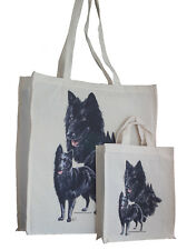 More details for belgian groenendael adult child shopping or dog treats packed lunch etc tote bag