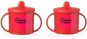 Tommee Tippee First Cup 190ml for Baby Kids Boys and Girls - Pack of 2 Red