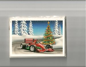 Christmas Cards IndyCar Cart Curve Tree Champ Car IRL Formula 1
