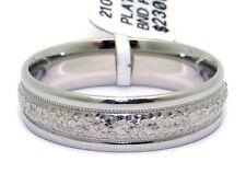 Scott Kay Mens Platinum PT950 6mm Wedding Band Ring Hammer Millgrain Sz 10 C0226