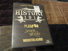 Platoon + Dances With Wolves + Windtalkers (DVD) History 101 [MGM] *NEW* Sealed